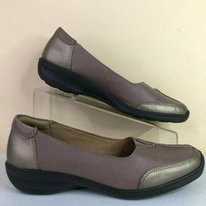 Hotter Loafer Gillian Taupe Brown Leather